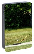 Golfing Sand Trap The Ball In Flight 02 Portable Battery Charger