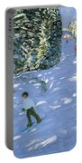 Gondola Austrian Alps Portable Battery Charger by Andrew macara