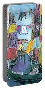Gondola In A Venetian Canal Portable Battery Charger
