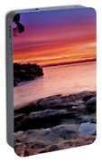 Gone Fishing At Sunset Portable Battery Charger