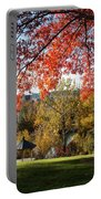 Gonzaga With Autumn Tree Canopy Portable Battery Charger by Carol Groenen