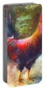 Gonzalez The Rooster Portable Battery Charger by Talya Johnson