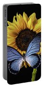 Gorgeous Blue Butterfly Portable Battery Charger
