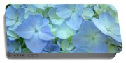 Gorgeous Blue Colorful Floral Art Hydrangea Flowers Baslee Troutman Portable Battery Charger