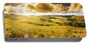 Gorgeous Golden Sunset Field  Portable Battery Charger