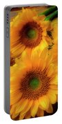 Gorgeous Lovely Sunflowers Portable Battery Charger