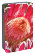 Gorgeous Pink Protea Bloom  Portable Battery Charger