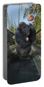 Gorilla With Lollipop Portable Battery Charger