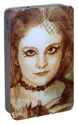 Goth Lady Portable Battery Charger