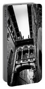 Gothic Bridge In The Gothic Quarter Of Barcelona Portable Battery Charger