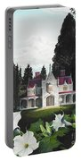 Gothic Country House Detail From Night Bridge Portable Battery Charger