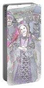 Gothic Ice Cream Girl Portable Battery Charger