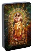 Gothic Madonna And The Child Portable Battery Charger