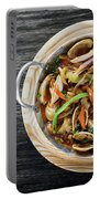 Gourmet Clam And Vegetable Seafood Stew In Spicy Tomato Sauce Portable Battery Charger