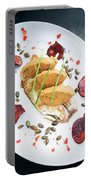 Gourmet Fish Fillet With Chickpea Curry Puree Meal Portable Battery Charger