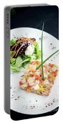 Gourmet Raw Tuna Tartare Ceviche With Mango Lime And Chilli Portable Battery Charger