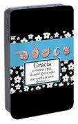 Grace Spanish - Bw Graphic Portable Battery Charger