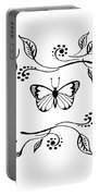 Graceful Butterfly Baby Room Decor Iv Portable Battery Charger