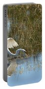 Graceful Great Egret Portable Battery Charger
