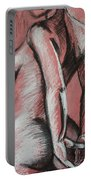 Graceful Pink - Nudes Gallery Portable Battery Charger by Carmen Tyrrell