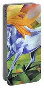 Graceful Stallion With Flaming Mane Portable Battery Charger