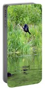 Grackle Meets Beaver Portable Battery Charger