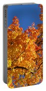 Gradient Autumn Tree Portable Battery Charger