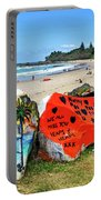 Graffiti At The Beach Portable Battery Charger