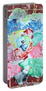 Graffiti Rose Portable Battery Charger by Aliya Michelle