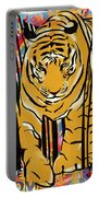 Graffiti Tiger Portable Battery Charger by Sassan Filsoof