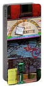 Graffiti Village Store Nyc Greenwich  Portable Battery Charger