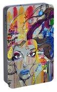Graffiti Woman Face Portable Battery Charger