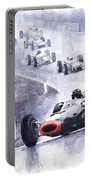 Graham Hill Brm P261 Belgian Gp 1965 Portable Battery Charger
