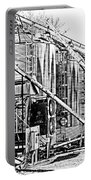 Grain Silos In Black And White Portable Battery Charger