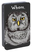 Grammar Owl Is Judging You Portable Battery Charger