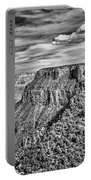 Grand Canyon In Black And White Portable Battery Charger