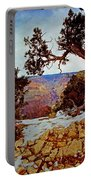 Grand Canyon National Park - Winter On South Rim Portable Battery Charger