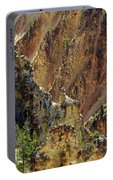 Grand Canyon Of The Yellowstone From North Rim Drive Portable Battery Charger