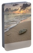 Grand Cayman Beach Coral At Sunset Portable Battery Charger