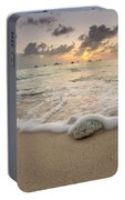 Grand Cayman Beach Coral Waves At Sunset Portable Battery Charger