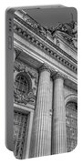 Grand Central Terminal - Chrysler Building Bw Portable Battery Charger