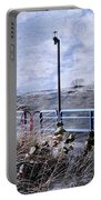Grand Haven Channel With Winter Waves  Portable Battery Charger
