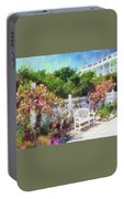 Grand Hotel Gardens Mackinac Island Michigan Portable Battery Charger