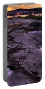 Grand Marais Lighthouse At Sunset Portable Battery Charger