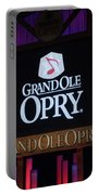 Grand Ole Opry House In Nashville, Tennessee. Portable Battery Charger