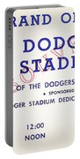 Grand Opening Dodger Stadium Ticket Stub 1962 Portable Battery Charger