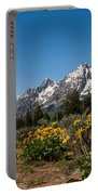 Grand Teton Arrow Leaf Balsamroot Portable Battery Charger by Brian Harig