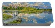 Grand Teton Riverside Morning Reflection Portable Battery Charger