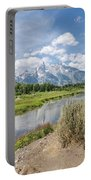 Grand Teton View No.1 Portable Battery Charger by Margaret Pitcher