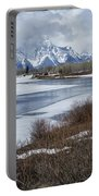 Grand Tetons From Oxbow Bend Portable Battery Charger